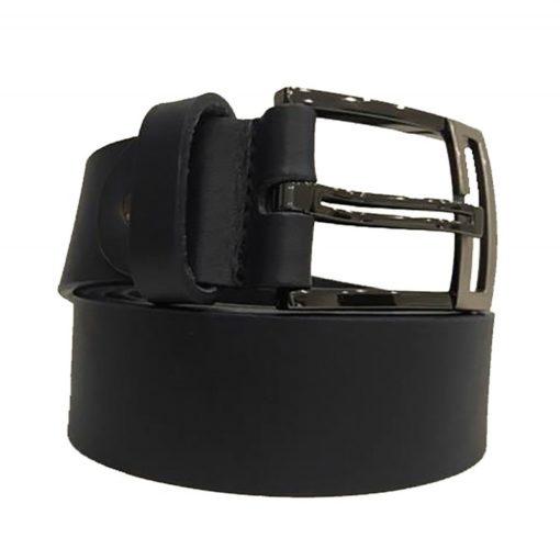Cintura Uomo Donna Pelle Vintage Cuoio Toro Lavato Larghezza 4 cm Marrone Scuro