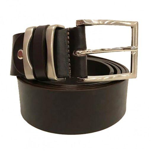 Cintura Uomo Donna Pelle Cuoio Toro Larghezza 4 cm Grigio