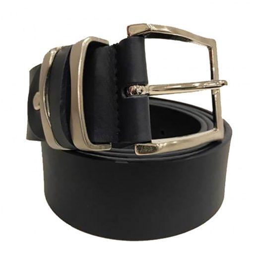 Cintura Uomo Donna Pelle Cuoio Toro Larghezza 4 cm Marrone Chiaro
