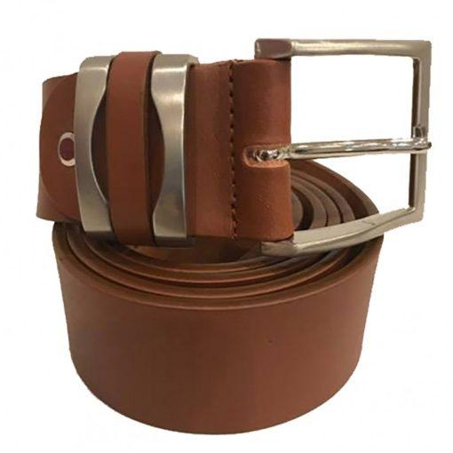 Cintura Uomo Donna Pelle Cuoio Toro Larghezza 4 cm Marrone Scuro
