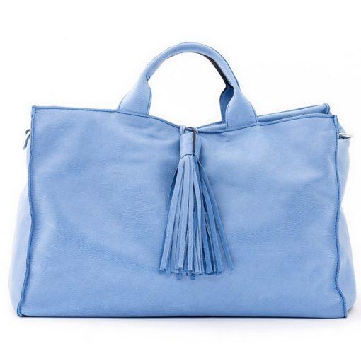 Mia Piccola Borsa Artigianale Donna Pelle Soft Colore Serenity Made Italy Fronte