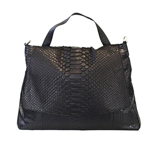 Phatty Borsa Vero Pitone Serpente Nero Snakeskin Bag